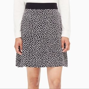 Kate Spade polka dot spot silk flip skirt